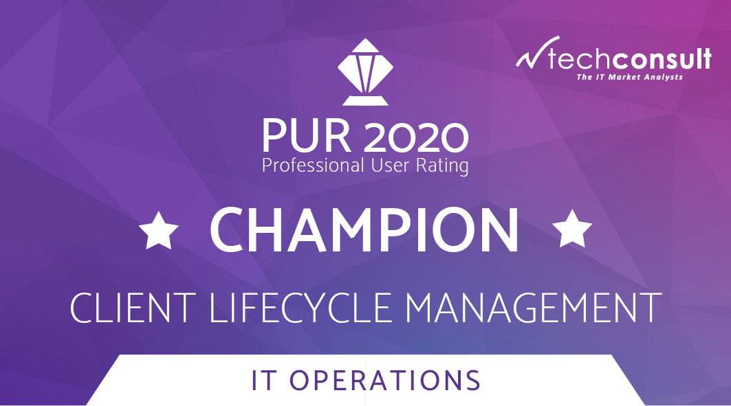 Badge techconsult PUR 2020 IT Operations Client Lifecycle Management