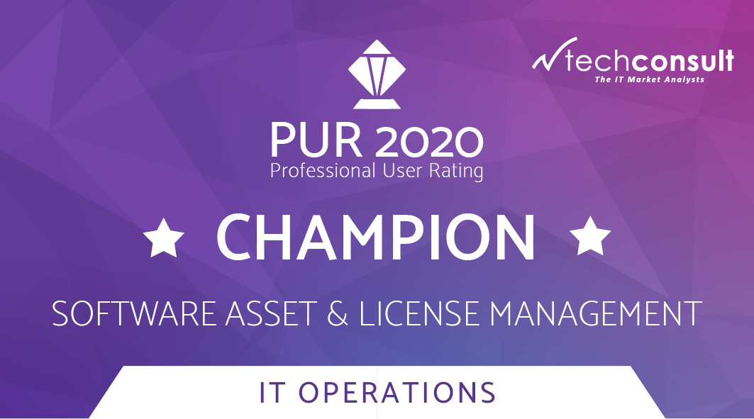 Badge techconsult PUR 2020 IT Operations Software Asset & License Management